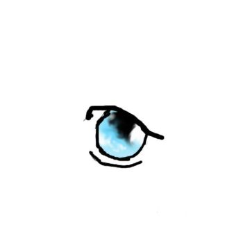 Blue anime eye by babibanana123