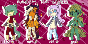 Adoptable Batch 5, Test Tube Babbus by Lacy-Succubus