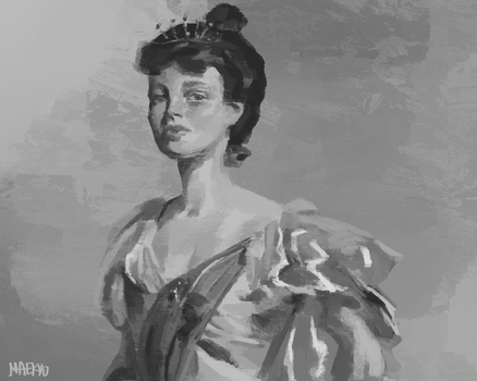 Mrs. George Swinton after John Singer Sargent by Maekyo