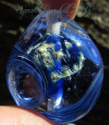'Going Home' lampwork Universe Egg by fairyfrog