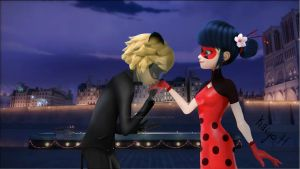 Chinese Ladybug and Suit Chat Noir