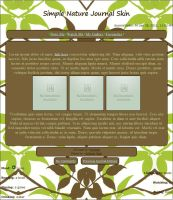 Simple Nature Journal Skin by caybeach