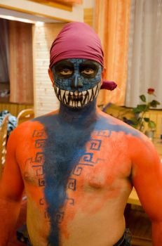 Aztec body-painting 1 by Rael-the-one