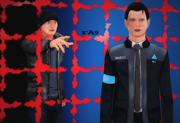 Detroit: Become Human - Connor Fanart by T1K4y
