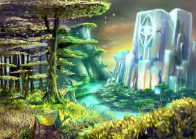 crystalline monument by tiocleiton
