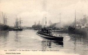 Vintage Europe - Submarine in Lorient by Yesterdays-Paper