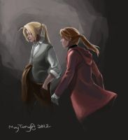 fma_fanart:elric brothers by MayTeng