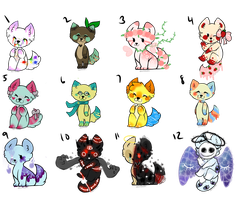 Point adoptables by Sereniteaa