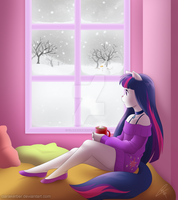 Commission - Winter View by ClaraKerber
