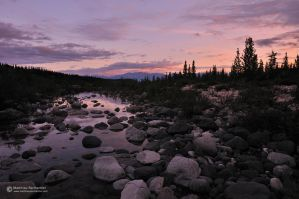 Twilight at Kennicott River by matthieu-parmentier