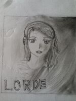 My old Lorde album drawing by anime-girl1709