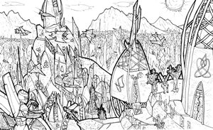 The Spires of Vos (Line-art) by SoundBluster