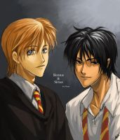 Remus and Sirius for Maru by PsychoAnn
