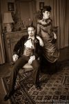 Victorian wedding couple by fairyfrog