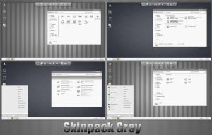 Grey SkinPack For Win7/8/8.1 by TheDhruv
