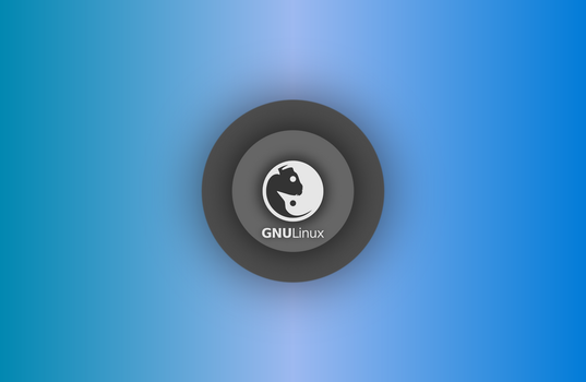 GNULinux YinYang Wallpaper 2015 by Dablim