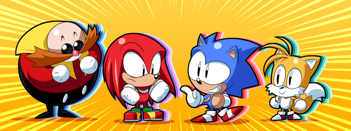 Chibi Sonic and company by rongs1234