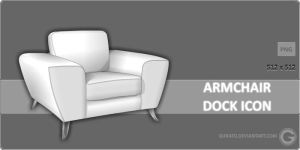 Armchair Dock Icon by Gurato