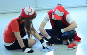 Pokemon - May and Red's travel (cosplay)