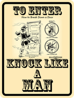 Knock Like A MAN by MouseDenton