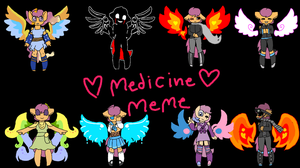 From All the AU Medicine by FlamingWolf7878