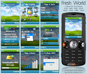 Fresh World For Sony Ericsson by ipholio