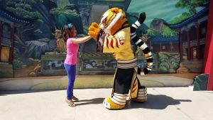 Tigress and I high five each other by Magic-Kristina-KW
