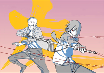 Naruto and Sasuke by sekibeing by Animeboy274s