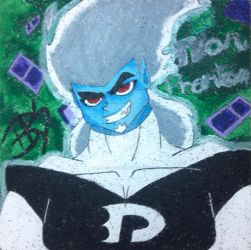 Danny Phantom: Dan Phantom Ceiling Tile by LionessGamer