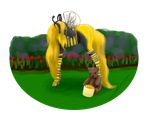 A Golden Bumbling Bee! - Contest Entry - by HideawayArtist