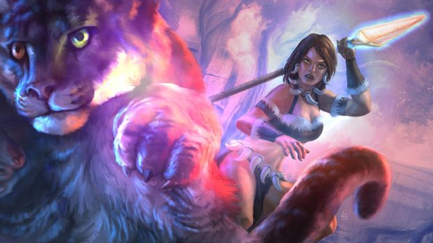 NIDALEE | The Bestial Huntress by AumesRonoy