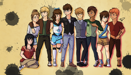 Character Mural by drawingwolf17