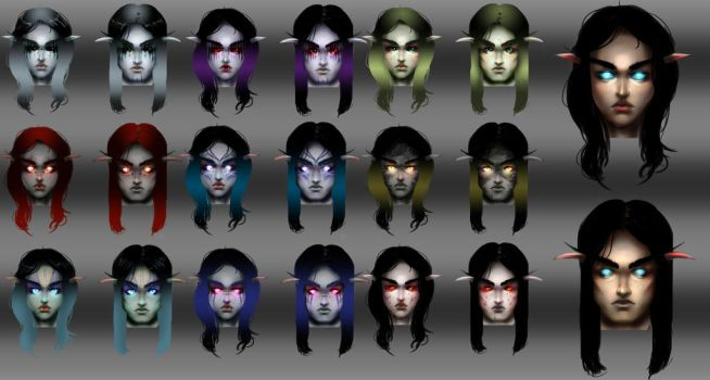 Face concept Darkfallen Project by Elowly