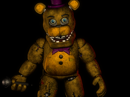 (C4D)Withered Fredbear by SpringBonnieNotTrap