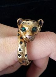 Leopard Ring with cristals by AstridMakosla
