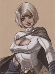 Power Girl Commission by em-scribbles
