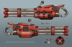Red Scifi Minigun Ver.2 by BurgerForLunsh
