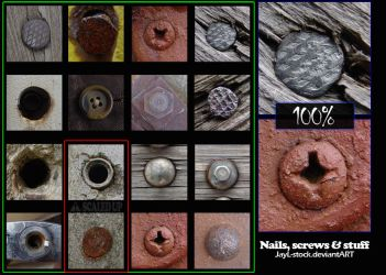 Nails, screws and stuff by JayL-stock
