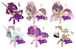 NG Adopts Sphinx X Mane 6 (open) by SleepyDemonAdopts