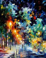 Romantic Winter by Leonid Afremov by Leonidafremov