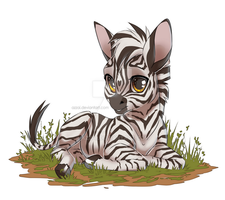 little zebra by azzai
