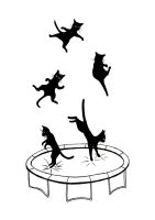 jumping cats by werepine