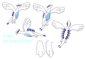 Lugia Reference: Dream Plush by Eternalskyy