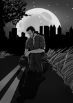 Comic book style TV Rick by IronWarrior777