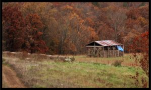 Autumn Barn Of Hay by SacrificialS