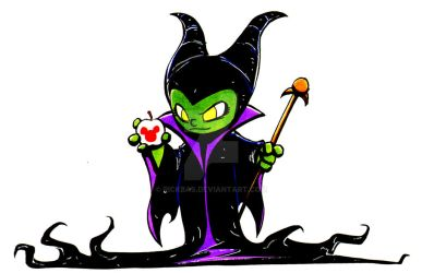 Chibi Maleficent by RickBas