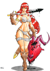 Demon slayer Sonja by DemetrioBraga