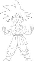 Goten lineart by Barbicanboy
