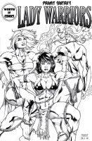 Lady Warriors #1 Back Cover by Alf-Alpha