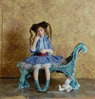 Alice and her bunny 1 by polymer-people